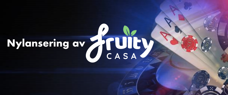 Fruity casino logo lansering